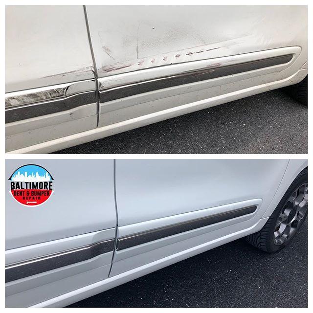 Door smash repair. #fiat500l #bodyandpaint #bumperrefinishing #bumperholerrepair #BumperScratch #BumperReplacement #smartrepair #paintlessdentdoctor #bumperdentrepair #bumperpainting #baltimorebumperrepainting