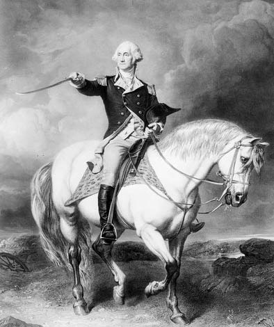 Washington aside his mount