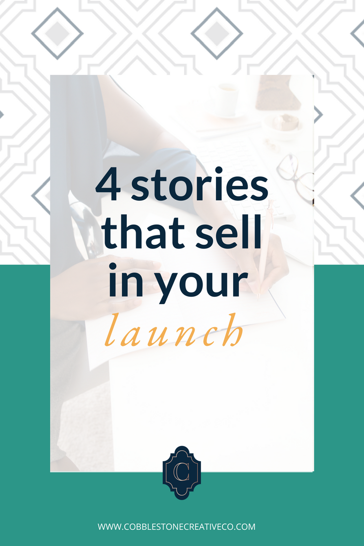 Stories are the key to marketing that doesn't feel sleazy and that sticks with people for a long time. And if you learn to tell great stories in your launch, you'll see your sales reflect that too. Here are 4 must-tell stories for your next launch.