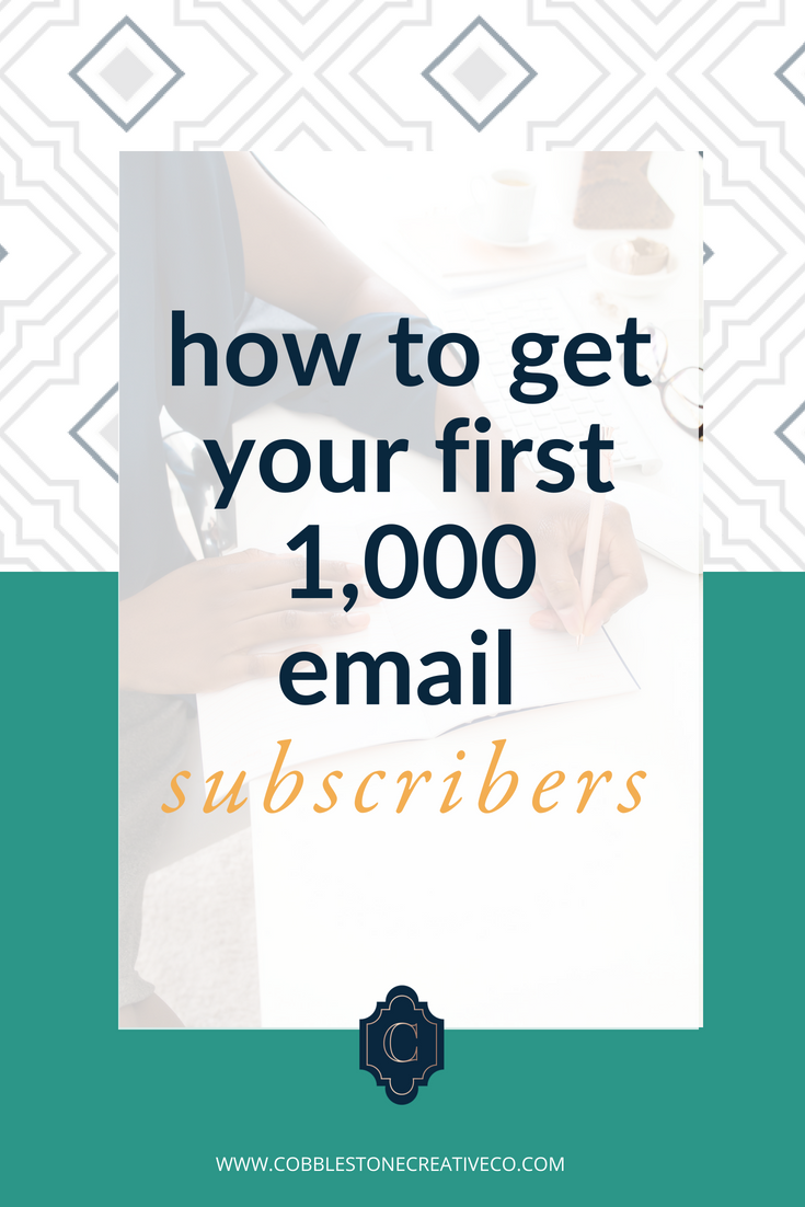 How to Get Your First 1,000 Email Subscribers {Free, Full-Length Training}