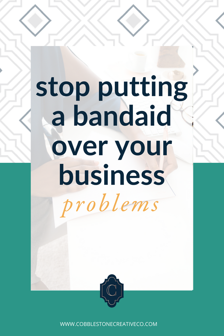 Stop putting a bandaid over your business problems. It's time we approached it more thoughtfully and solved the right problem for faster growth and bigger results. Oh and less stress.  Join me to find the right problem + start fixing it in this episode.  Have a leads problem? Try my content funnel for client Attracting Content.  Cobblestonecreativeco.Com/contentfunnel    Have a conversion problem? Try my strategies for a higher converting list.  Cobblestonecreativeco.Com/email    Need to make more space with leveraged offers? Let's launch! Pick up my launch checklist.  Cobblestonecreativeco.Com/checklist