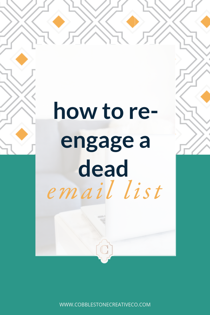 Does your email list feel broken? Like somehow everyone else is using it to make bank and you can't seem to make it happen?  So you hustle endlessly to get the clients you want and it's just not sustainable.  It might be  time to re-engage your list  so you can build some momentum {and probably get some sales in the process}. I've got some tips for you in this video.  Want some targeted strategy to engage, build, and sell more with your email list? Discover how my team and I can help you up your email marketing game ... and your revenue in the process at    cobblestonecreativeco.com/strategy