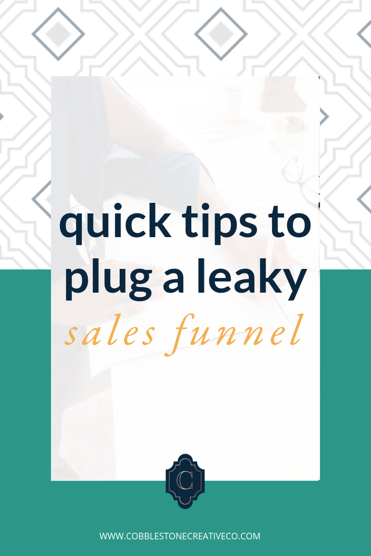 Does your email list feel like a roach motel? People check in but they never check out your stuff?  Then, my friend, you've got a leaky sales funnel. 1-3% is a starting point, and if you're not cracking those numbers with your list then you're missing a major way that you can make bank and scale your business.  Today I'm sharing a few leaks to look out for and   what to do to increase conversions AND lifetime value of your leads.    Ready to turn your email list into deep, revenue generating relationships? My team can help. Check out our new email offerings at    cobblestonecreativeco.com/strategy    and apply for a call to get your personalized strategy to make bank with email marketing.