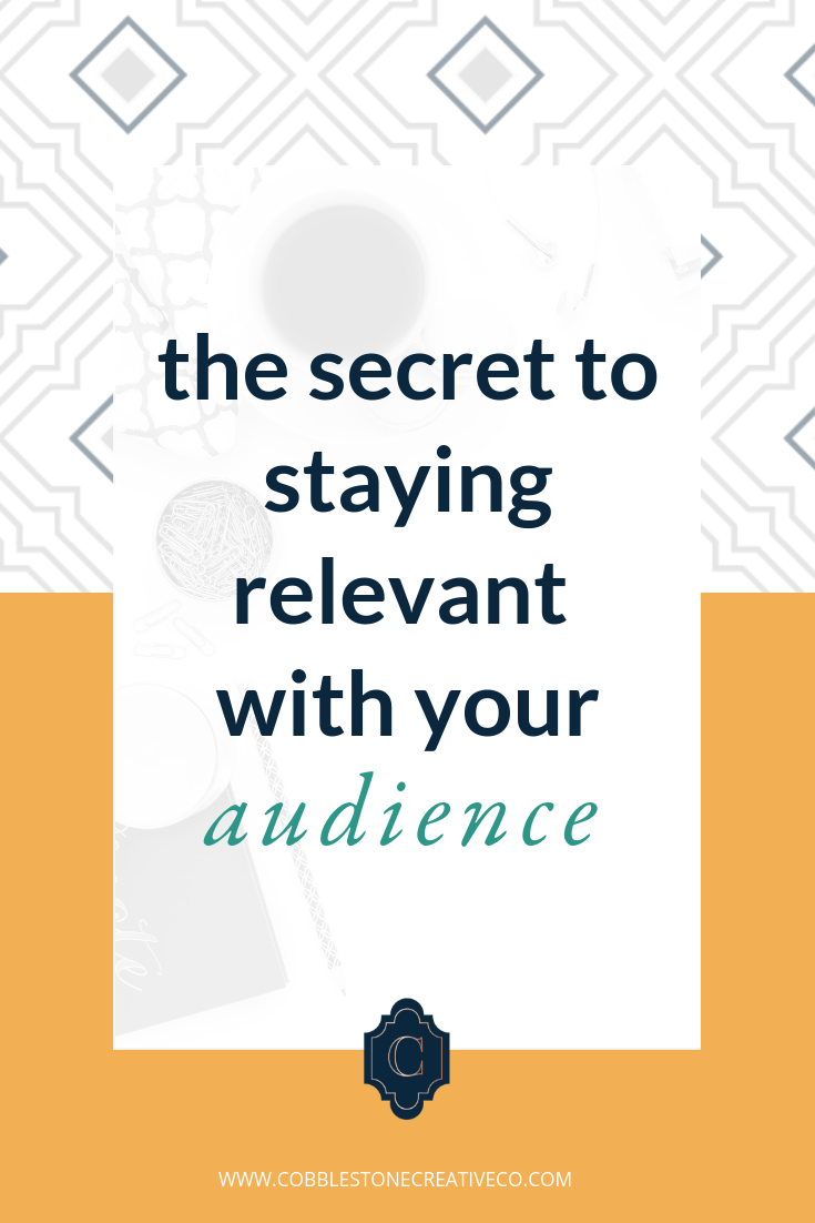 "Remember the one high school teacher who tried to be ""the cool guy"" and used slightly outdated references to connect with you?  You don't wanna be that guy.  It's easy to stay relevant to your people — but it does take intention. Discover the secret to staying relevant and how to make sure you're always speaking their language.  Once you know your people, you need to know yourself. Discover your style of influence so you can take these tips and add your special sauce. Take the quiz here ——>    cobblestonecreativeco.com/quiz"