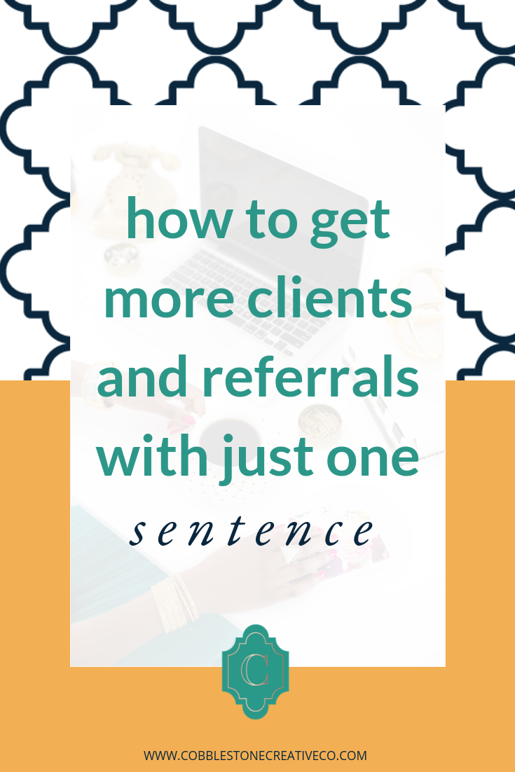 Speaking of clients and referrals -- is your calendar filling up with ideal clients? Would you like it to?  Watch this video to find out how!   Then grab my free Content Funnel freebie guide to discover the types of content you should be sharing to fill up your calendar on the regular from social media. ----->    cobblestonecreativeco.com/contentfunnel