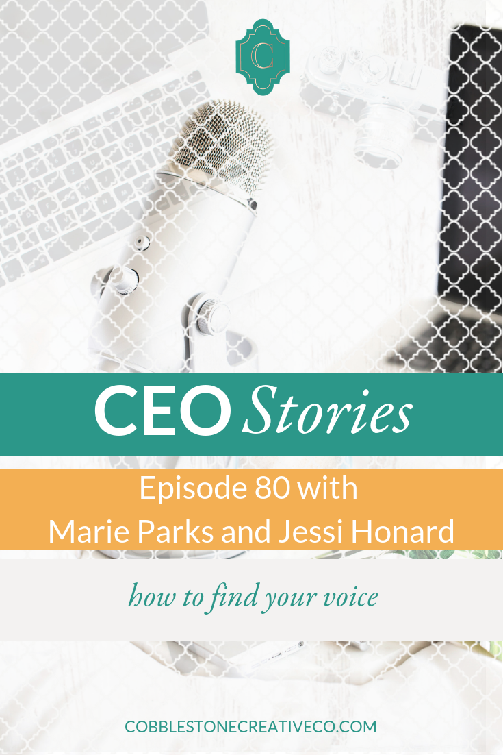 As messaging strategists, Jessi Honard + Marie Parks spend each day helping entrepreneurs find their voice and step into their thought leadership role to create success. In this episode, they're giving us a peek at the process to doing that for yourself.