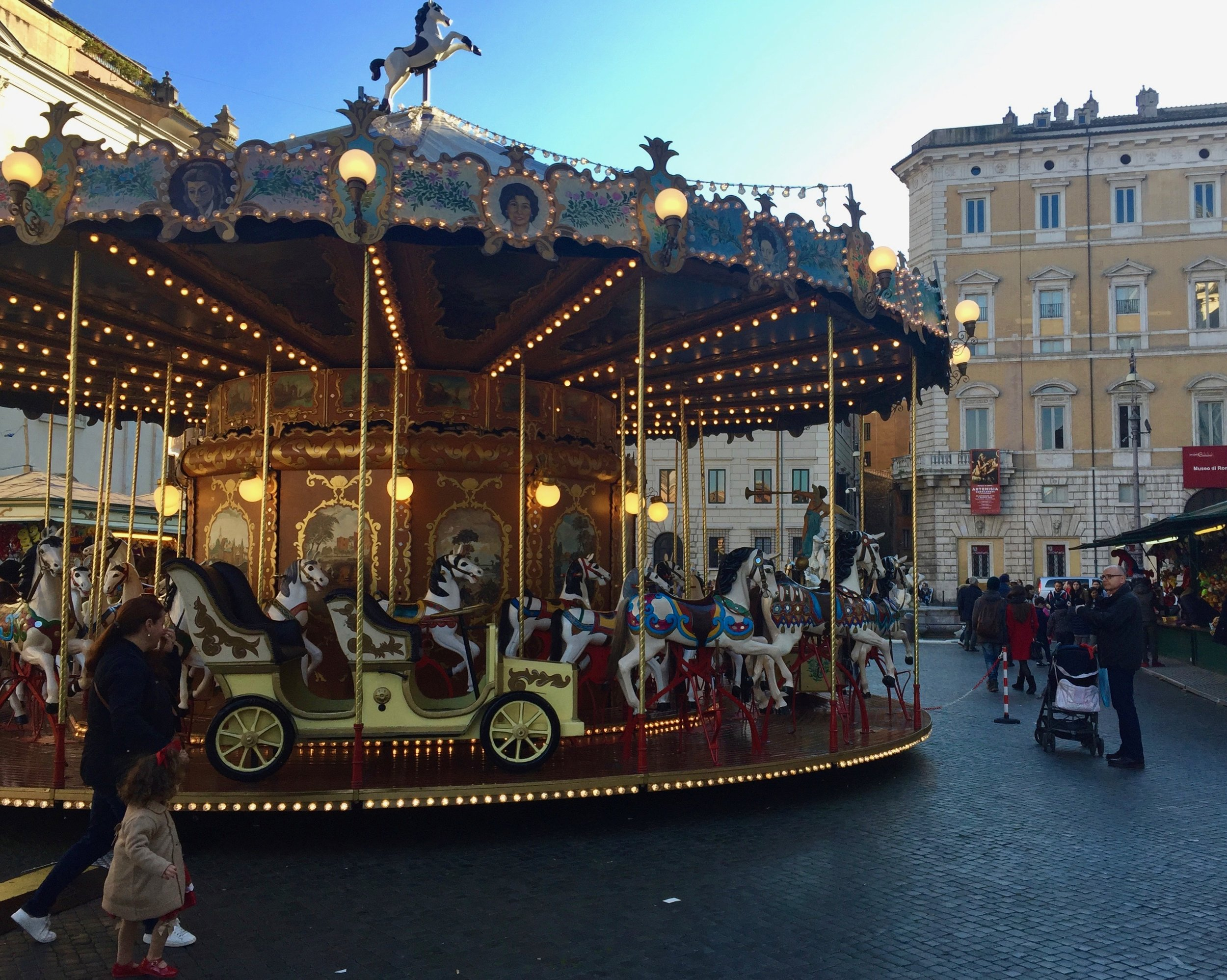 where to find christmas markets in rome
