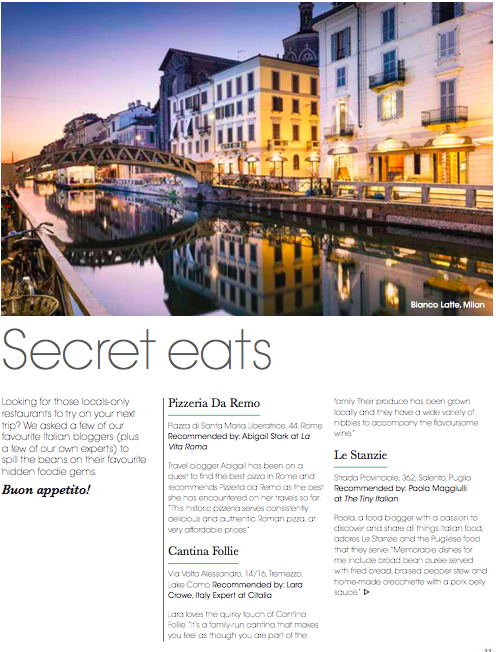 Secret Eats Of Italy Citalia Guide To Local Restaurants La Vita Roma