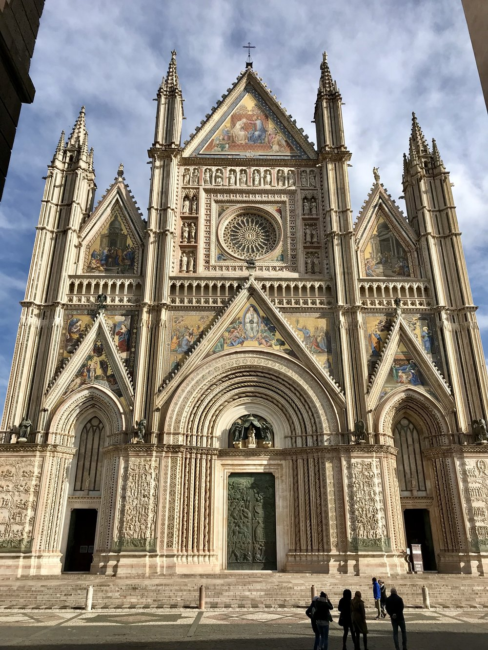 The Duomo di Orvieto, one of the largest cathedrals in the region.