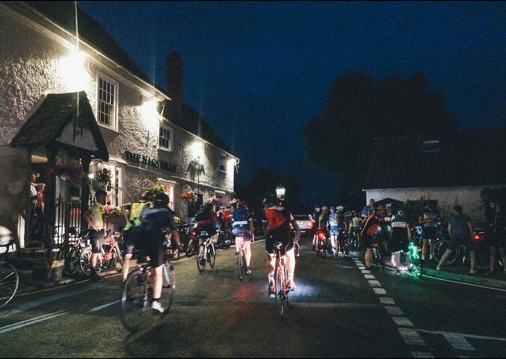 DUNWICH DYNAMO - 28TH / 29TH JULYJoin us and 3000 riders this grass roots cycling event, we'll cycle 200km through the night from London to Dunwich Beach.   We'll cycle through villages, towns and unlit country lanes, follow the lights ahead!