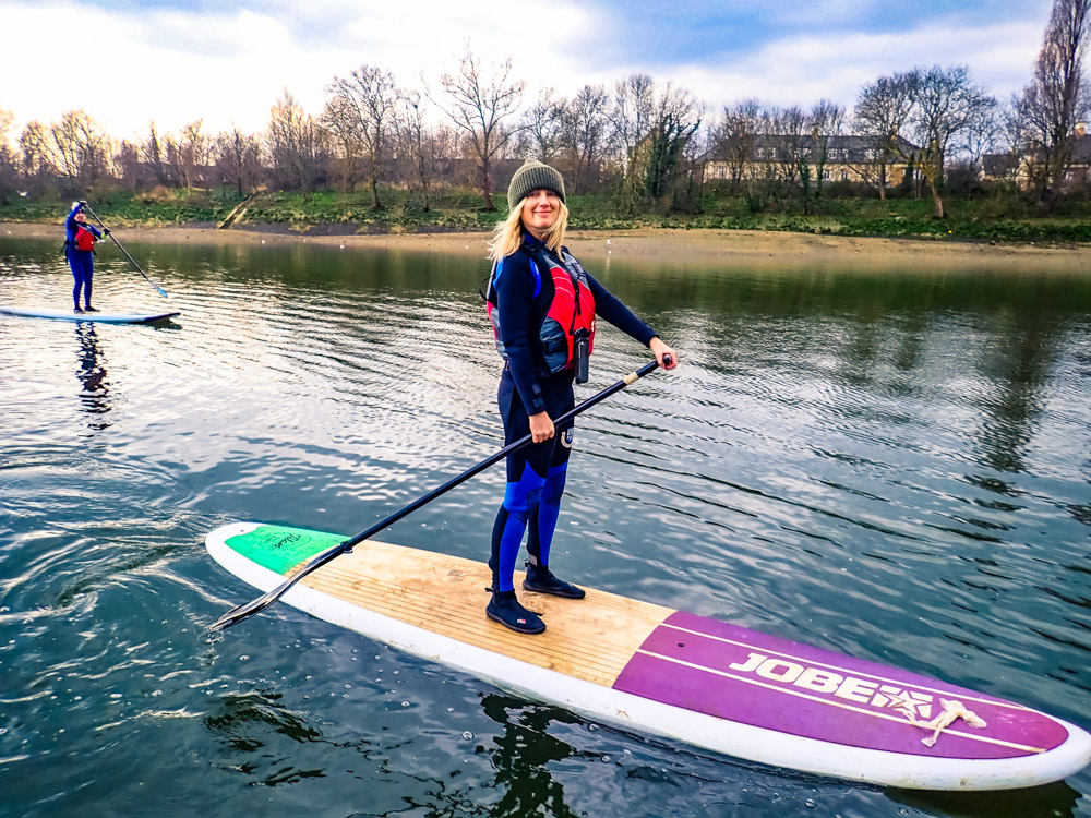 What's it like to SUP in winter? - We think It's beautiful, it's lovely and crisp in the air and London in winter looks amazing especially around Christmas time!