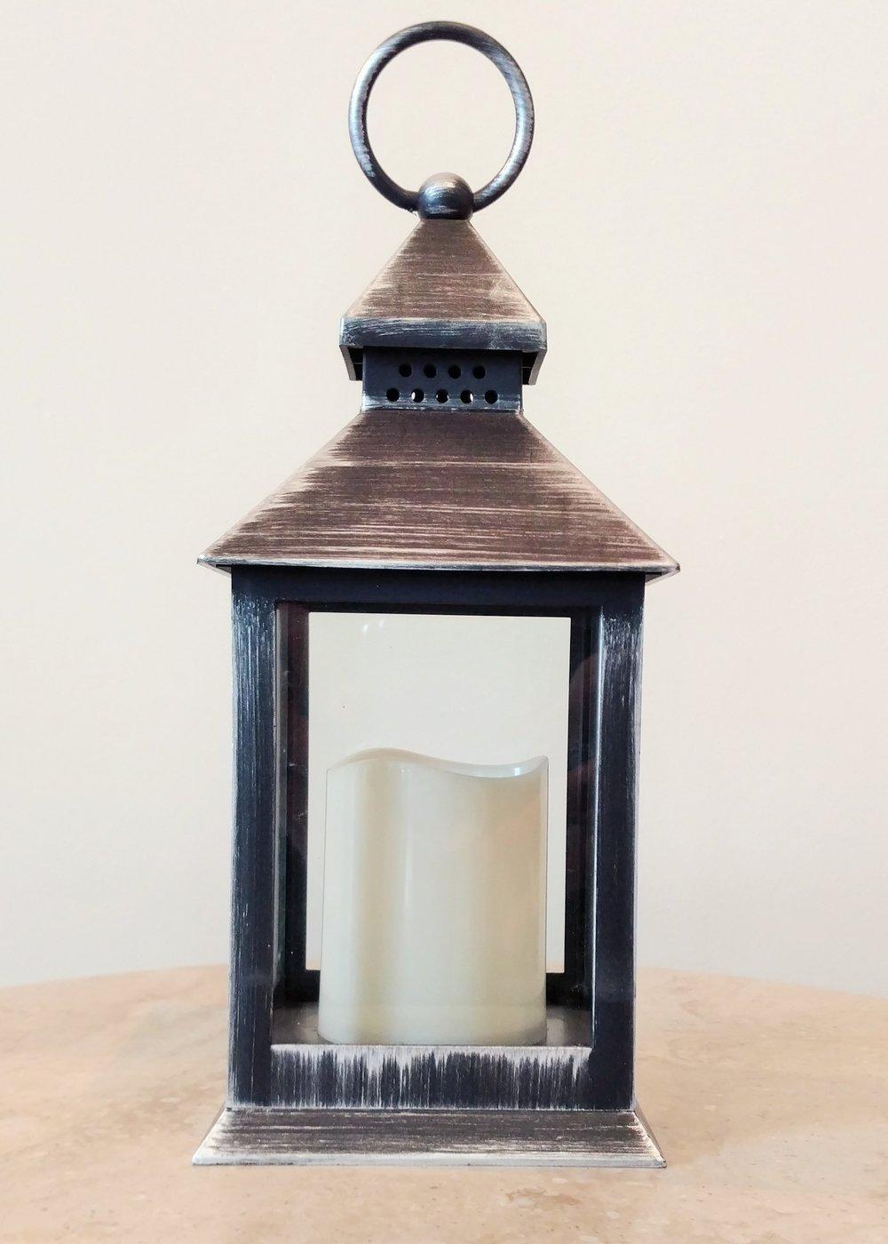 "9"" Black Square Lantern"