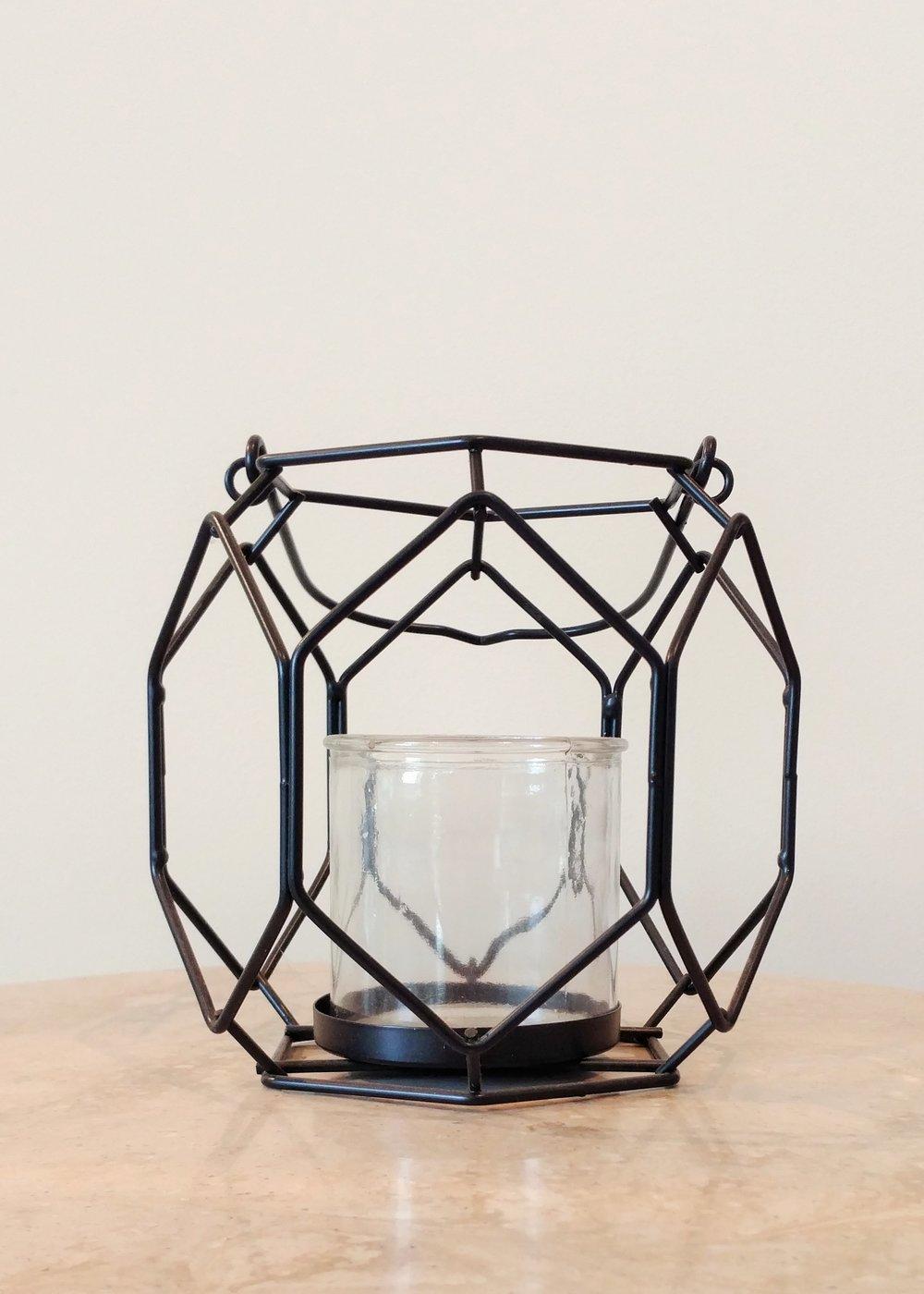 """7"""" Geometric Hanging Lantern"""