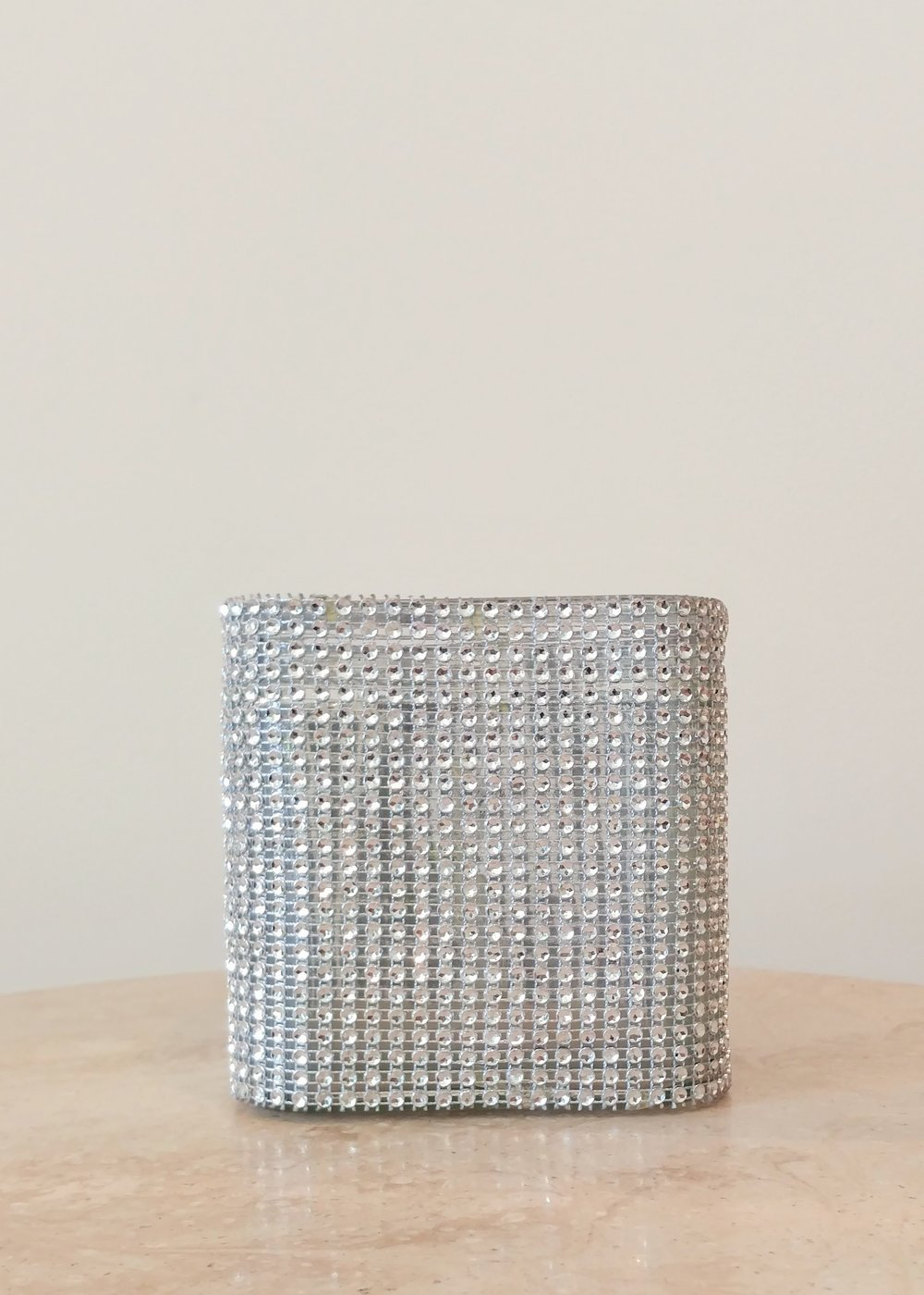 "5"" Jeweled Square Vase (5"" Diameter)"