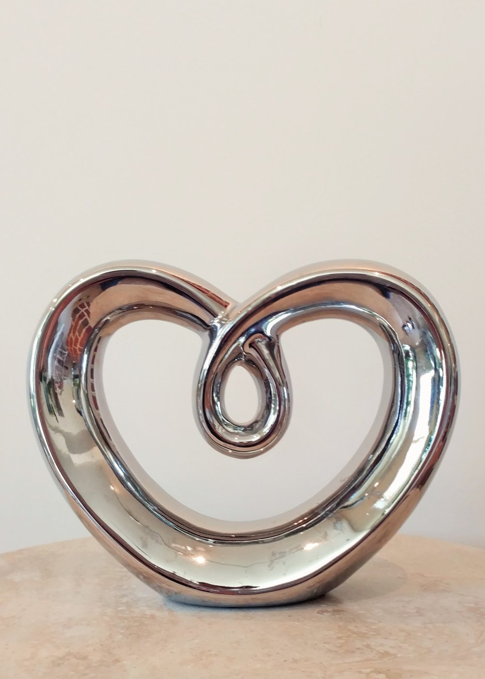 "7.5"" Metallic Heart"
