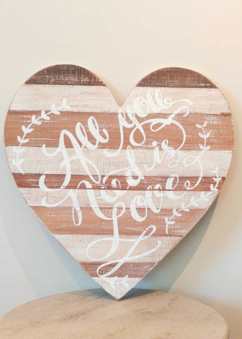 """20"""" Wooden Heart"""