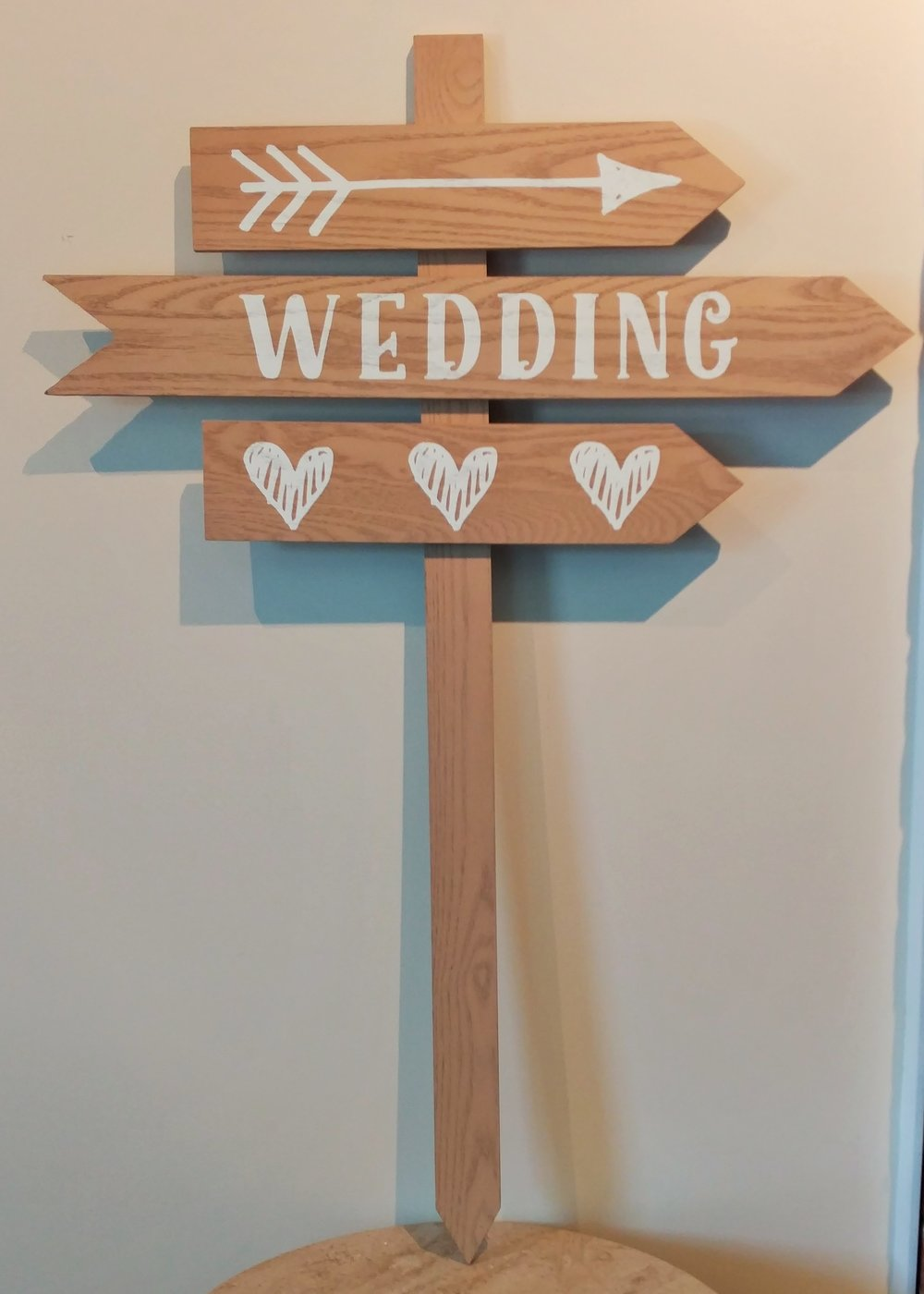 "36"" Wooden Wedding Stake"