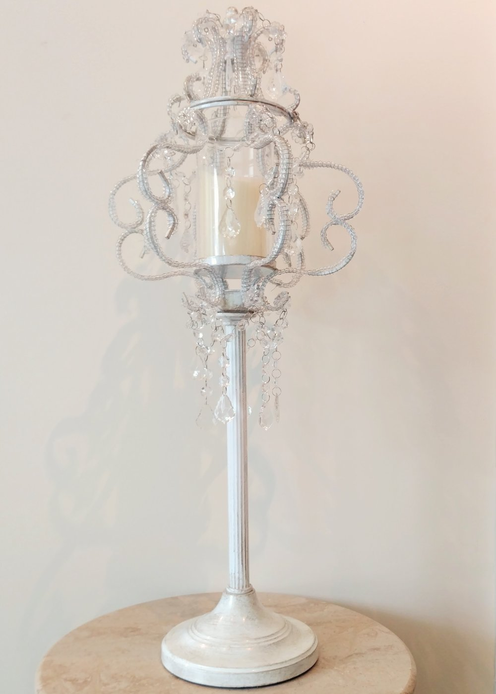 "29.5"" Raised Crystal Candle Holder"