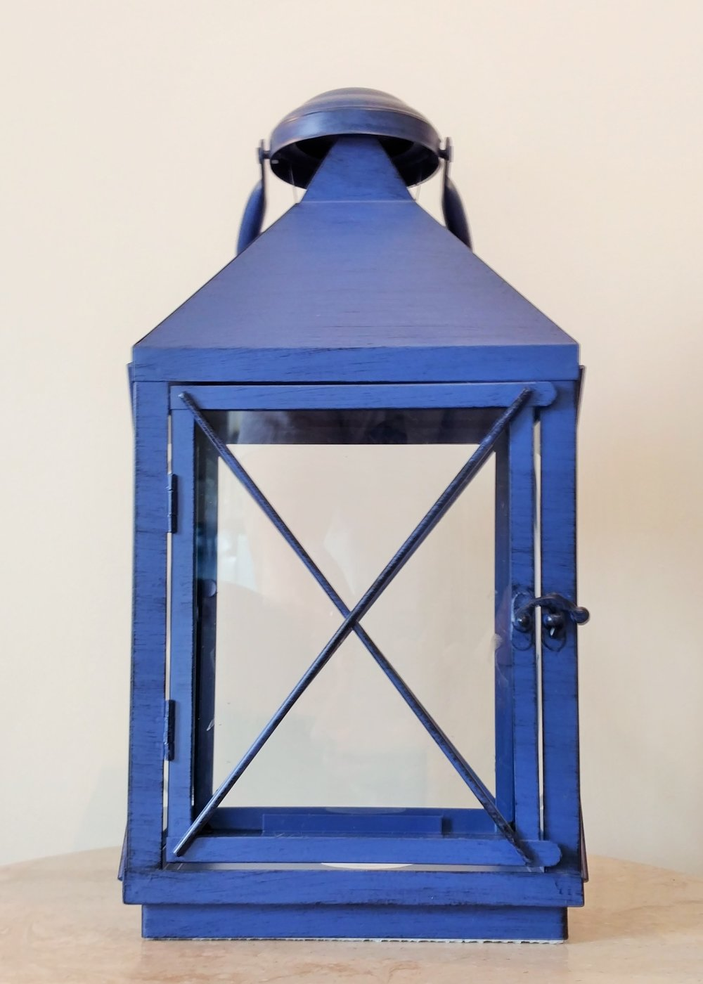 "16"" Blue Lantern"