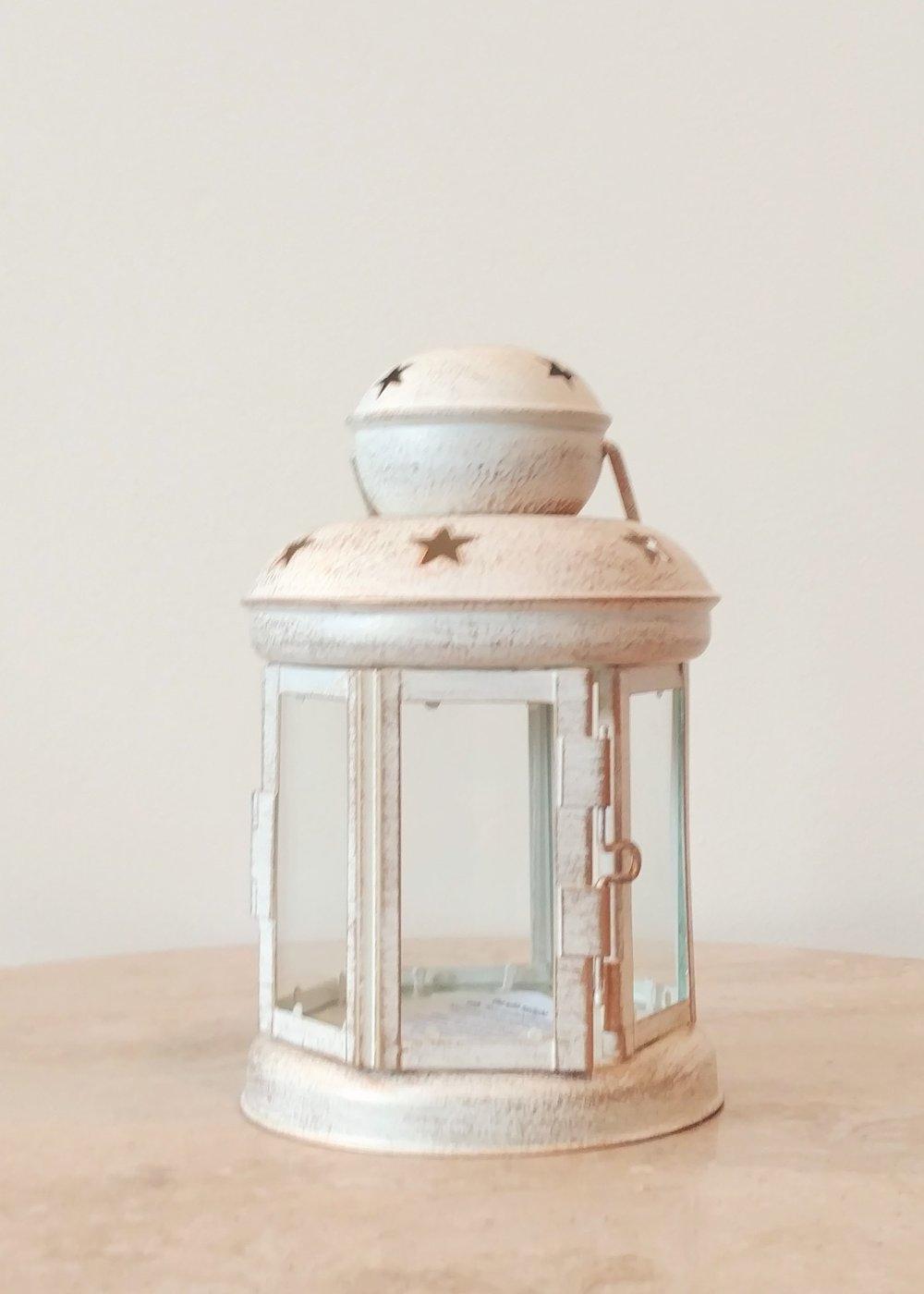 """6.5"""" Miniture White Lantern"""