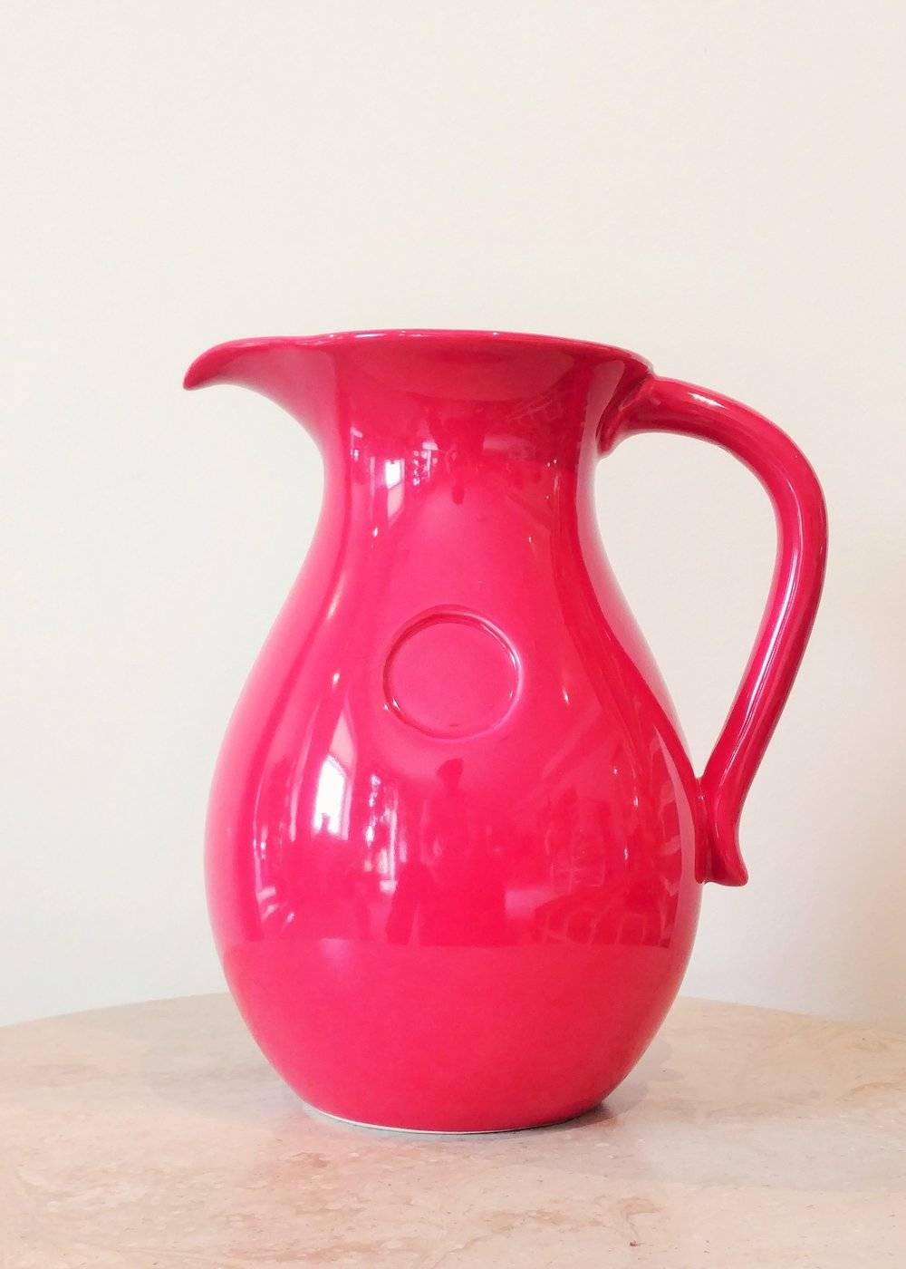"9.5"" Red Pitcher (5"" Diameter)"