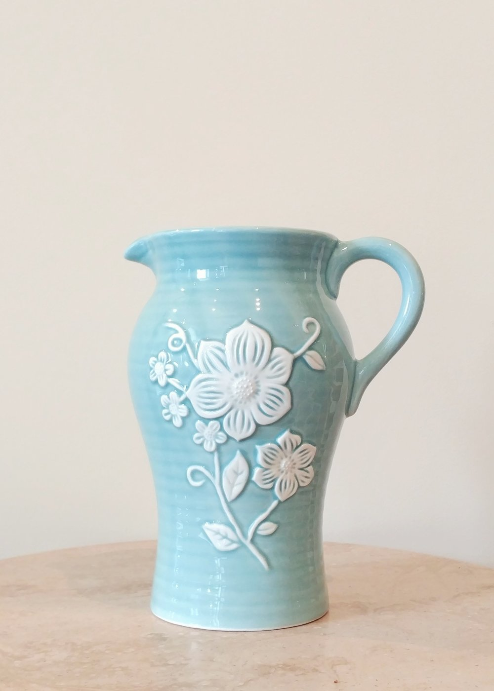 "9"" Blue Decorative Pitcher (4.5"" Diameter)"