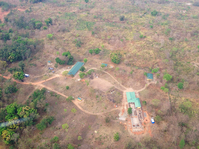 Ibba Girls School seen from the air in Feb 2015.