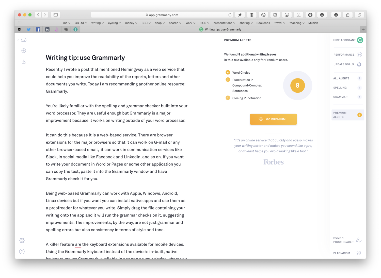 Grammarly can improve your writing wherever you write