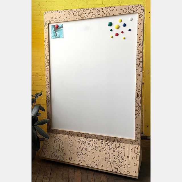 It's time to brainstorm 🧠! Making stylish whiteboards with a custom voronoi pattern designed by @vvox_studio . . . . . . #lasercutting #lasercutter #laserengraving #lasercuttingservice #lollipoplaser #madeinbrooklyn #madeinnyc #madeinnewyork #design #fabrication #voronoi