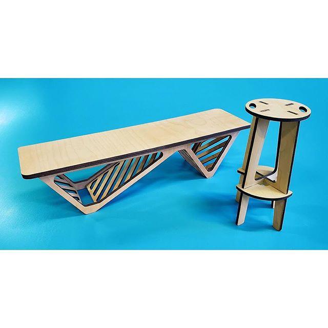 Big ideas, tiny models! Scaled models for some new studio furniture. . . . . . .  #lasercutting #lasercutter #lasercut #lollipoplaser #madeinnyc #madeinbrooklyn #minifurniture #miniture #furniture #furnituredesign #interiordesign #fabrication #productdesign