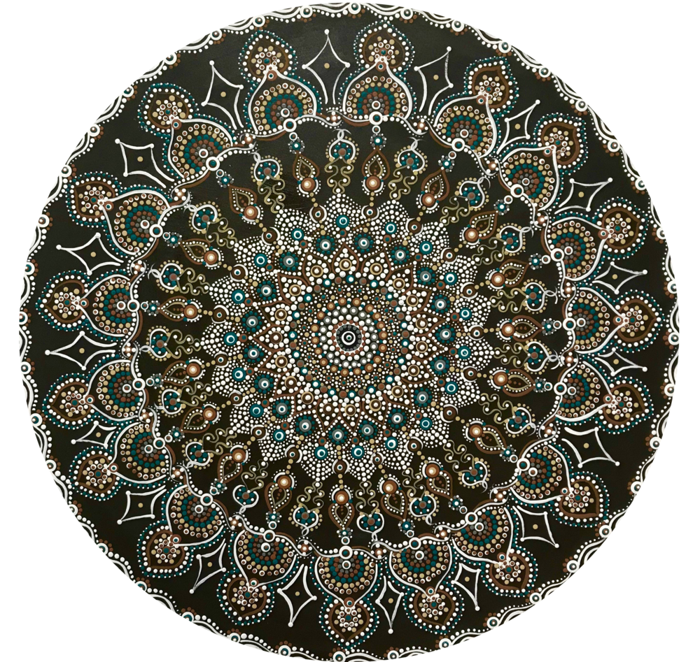 Mandala 1 - 201824 inch diameteracrylic on wood