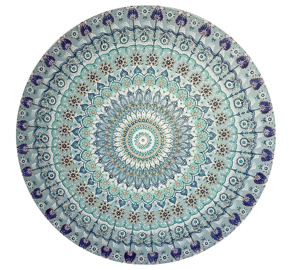 Mandala 2 - 201848 inch diameteracrylic on wood