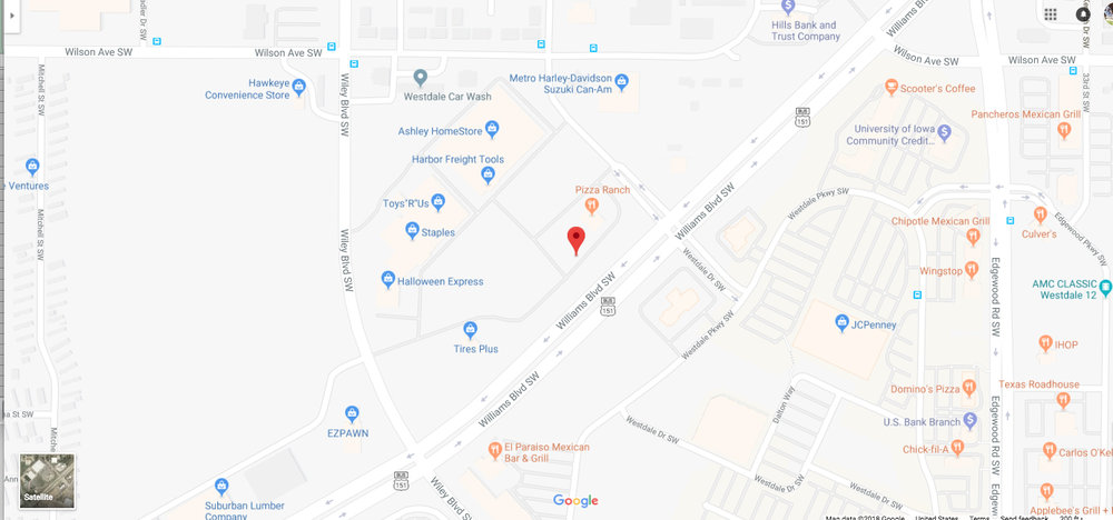 Map of billboard location.