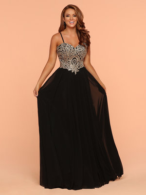 cec0822c70 ... Fitted Open Back Dress. 300.00. Sparkle Black 71802 Long A Line Dress  With Beaded Lace Corset ...