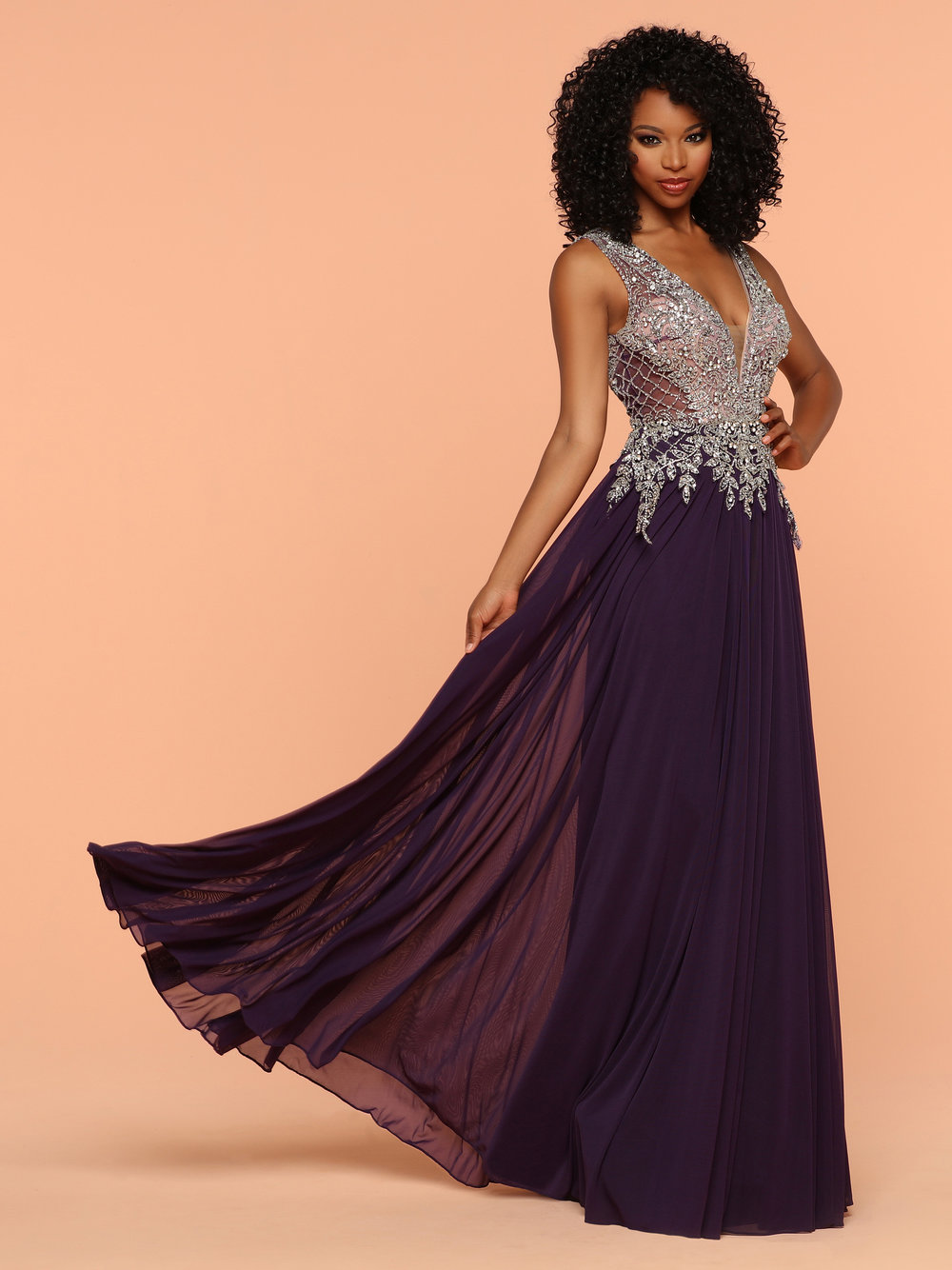5d1b2d452b1f Sparkle Eggplant 71815 Low V Back And Neckline With A Beaded Top ...