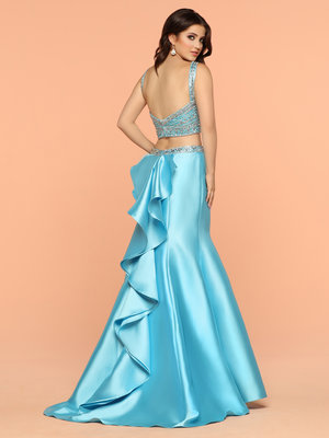 6c2127a694 Sparkle Turquoise 71876 Two Piece Dress Beaded Sweetheart Neckline Top and  A Low Open Back. 310.00. Sparkle Black 71872 Long ...