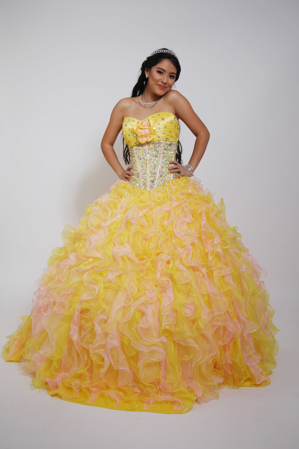 Quinceañera Collection 19QDSEZN10213 Ball Gown, Strapless Sweetheart ...