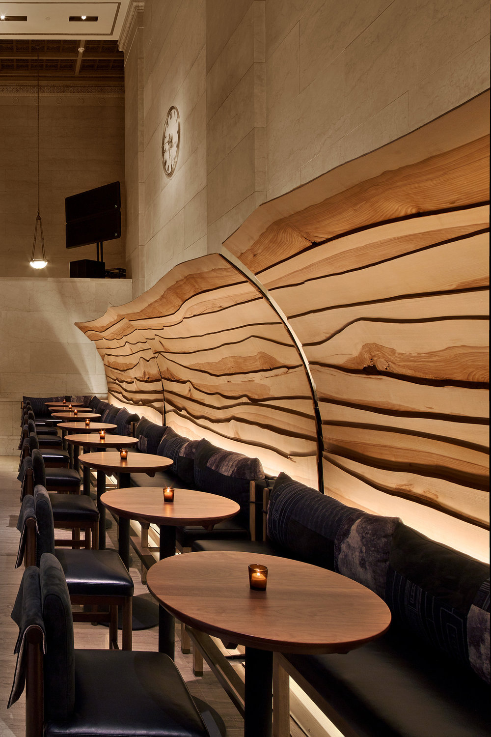 "Nobu Downtown   Project opening: 2017 | Completed at Rockwell Group | Role: Interior Designer               96                Normal     0                     false     false     false         EN-US     X-NONE     X-NONE                                                                                                                                                                                                                                                                                                                                                                                                                                                                                                                                                                                                                                                                                                                                                                                                                                                                                                                                                                                                                                                                                                                                                                                                                                                                                                                                                                                                                                                                                                                                                                                                                                                                                                                                 /* Style Definitions */ table.MsoNormalTable 	{mso-style-name:""Table Normal""; 	mso-tstyle-rowband-size:0; 	mso-tstyle-colband-size:0; 	mso-style-noshow:yes; 	mso-style-priority:99; 	mso-style-parent:""""; 	mso-padding-alt:0in 5.4pt 0in 5.4pt; 	mso-para-margin:0in; 	mso-para-margin-bottom:.0001pt; 	mso-pagination:widow-orphan; 	font-size:12.0pt; 	font-family:Calibri; 	mso-ascii-font-family:Calibri; 	mso-ascii-theme-font:minor-latin; 	mso-hansi-font-family:Calibri; 	mso-hansi-theme-font:minor-latin;}     Laura played a leading role in the design of this 12,500-square-foot restaurant. The Rockwell Group design team was tasked with rethinking the 20 year old iconic New York flagship to bring it's brand and spirit into the interior landmarked beaux arts building where, on the lobby floor, no permanent construction could be done. Laura took as many opportunities as possible to specify sustainable finishes. FSC certified timber was used everywhere possible, walls in the downstairs space were coated with shikkui plaster, an air purifying Japanese finish made from finely ground upcycled eggshells. Chairs from the old restaurant were reused and reupholstered in bright colors nodding to Nobu's Peruvian fusion culinary heritage.    Award:  Interior Design NYCxDESIGN: BEST RESTAURANT 2017   All photo credit to Eric Laingel Photography."
