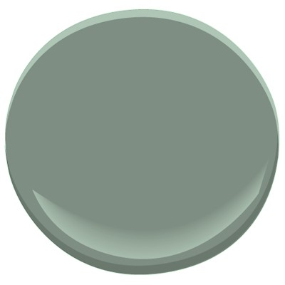 The green I used in my own dining room - it's gives a warm enveloping color without being overly saturated or making the room dark - Benjamin Moore #699 Garden Oasis