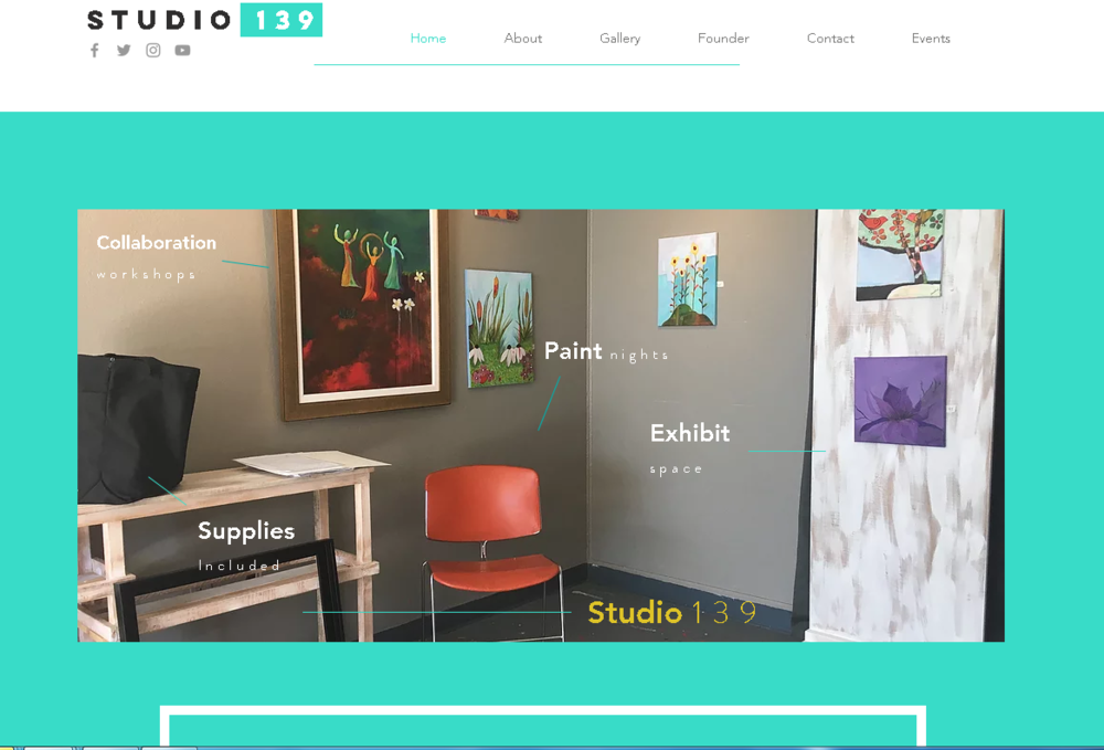 web design. - created official web site for local creative studio. client, Studio 139 (2017)