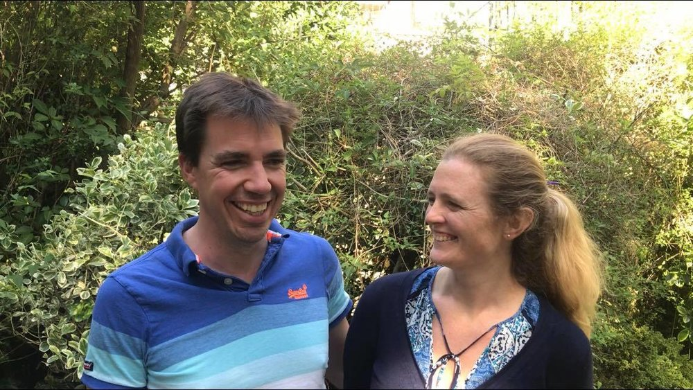 "Husband and wife entrepreneurs Oliver and Joanna Codrington -  ""Inspiring and enormously helpful""  "" We are now having conversations which we had never found a way to have at home"""
