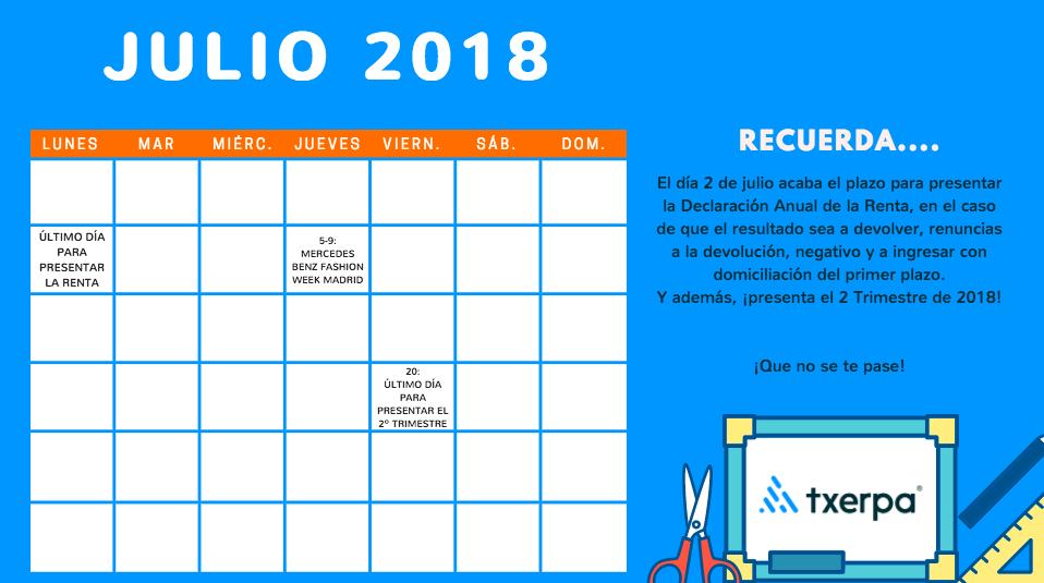 Calendario 2018 de congresos y ferias internacionales txerpa for Calendario ferias