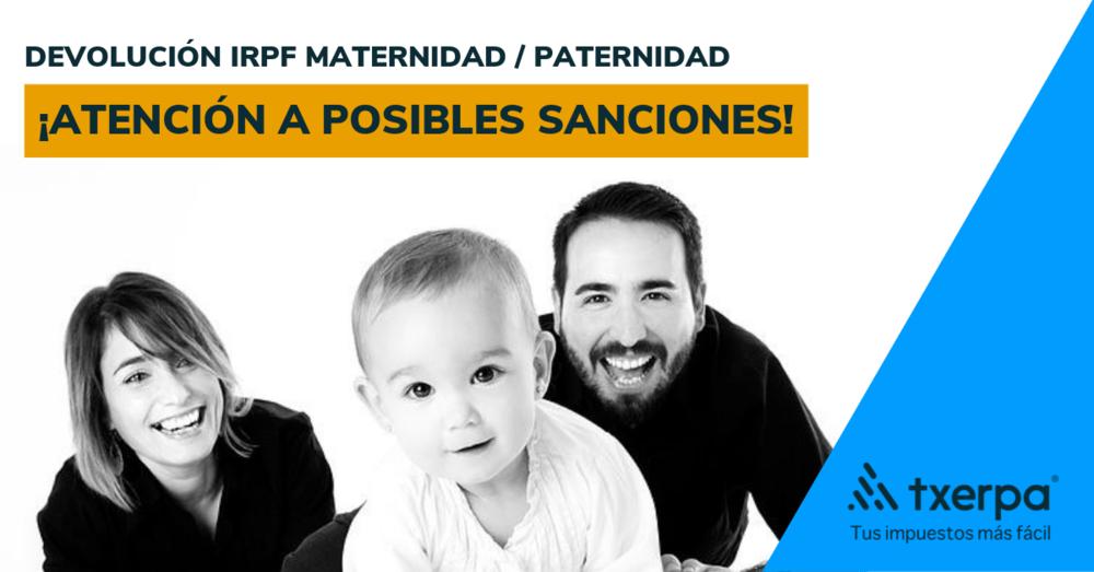 devolucion irpf maternidad paternidad sanciones hacienda txerpa.png