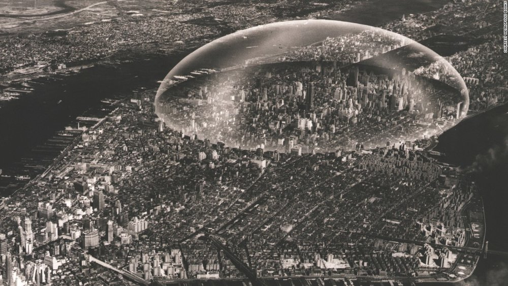 R. Buckminster Fuller, Dome over Manhattan, 1961.