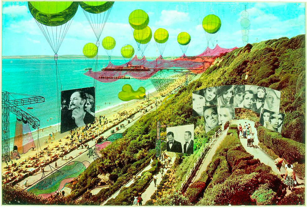 Peter Cook / Archigram, Instant City Visits Bournemouth, 1968.