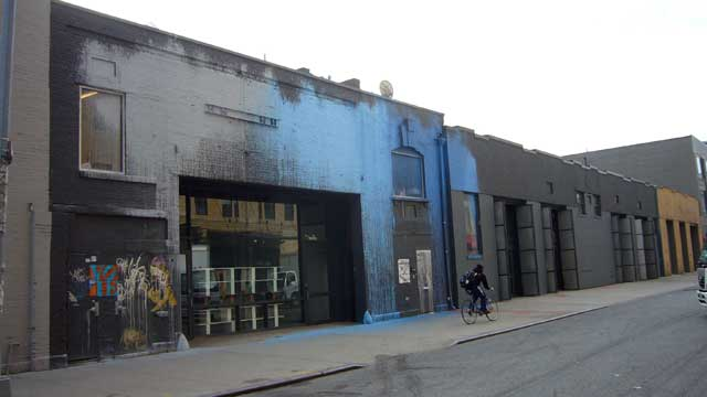 Eyebeam stands out from its neighbors in Chelsea. (photo by Steve Lambert, via  Wikimedia )