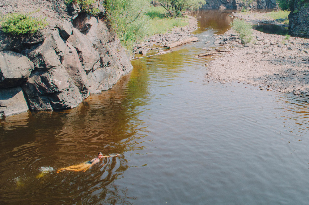 Cliff Jumping in Duluth -
