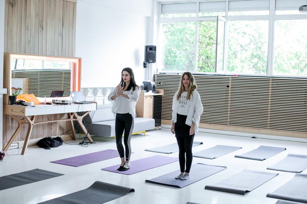 Laura Călin și Mia Munteanu, cofounders Yoga City