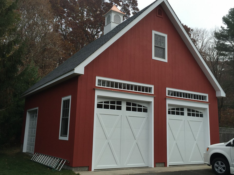 Windsor Garage Two Car Transom Windows 5