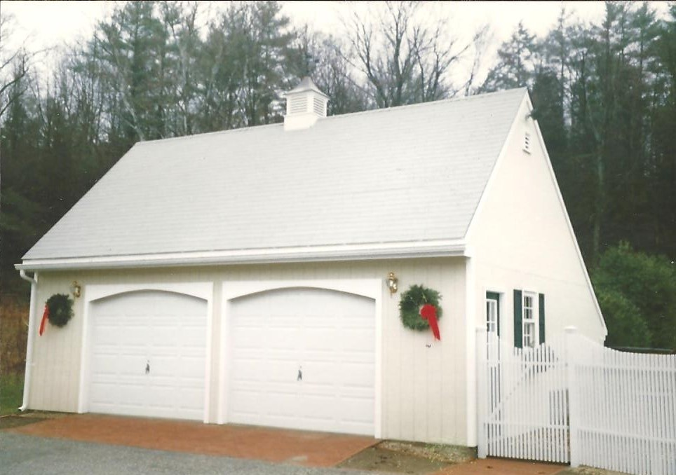Saltbox Cape Two Car Garage 14